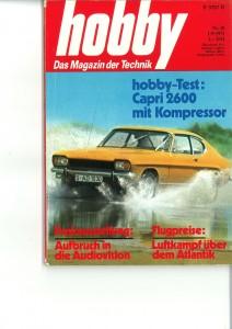 Bericht Hobby Capri 2600 Kompressor