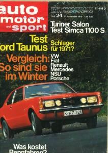 AMS November 1970 Test Ford Taunus
