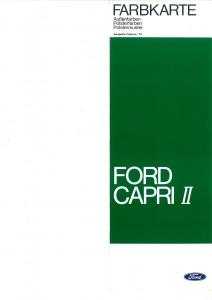 Farbkarte Ford Capri 2
