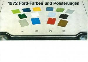 Prospekt 1972 Ford Farben und Polsterungen