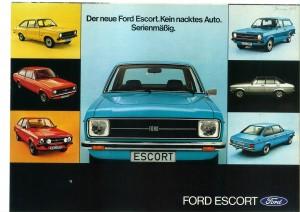 Prospekt Ford Escort Januar 1975