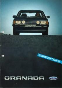 Prospekt Ford Granada  August 1983