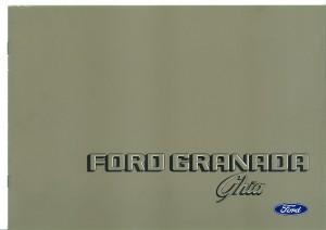 Prospekt Ford Granada Ghia Oktober 1980