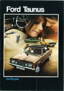 Prospekt Ford Taunus 1971 Niederlande