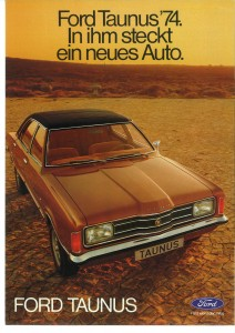 Prospekt Ford Taunus August 1973