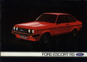 Prospekt Ford Escort 2 RS