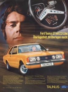 Werbung Ford Knudsen Taunus GT 2,3 V6