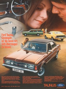 Werbung Ford Taunus Knudsen GXL