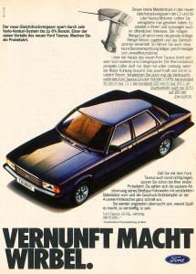 Werbung Ford Taunus 1980