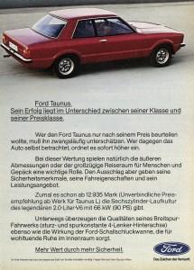 Werbung Ford Taunus 1976